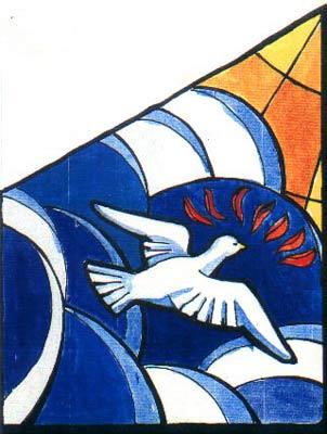Vitral de San Jorge - Panel que representa a Dios Padre - Click to Zoom