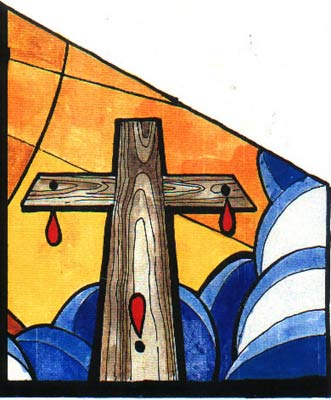 Vitral de San Jorge - Panel que representa a Jesucristo - Click to zoom